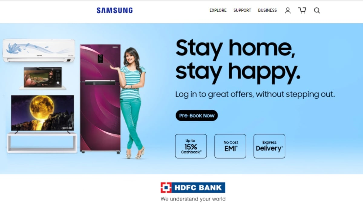 Samsung Opens Booking for Smart TVs and Home Appliances; Offers Cashbacks, Extended Warranty, No-Cost EMIs