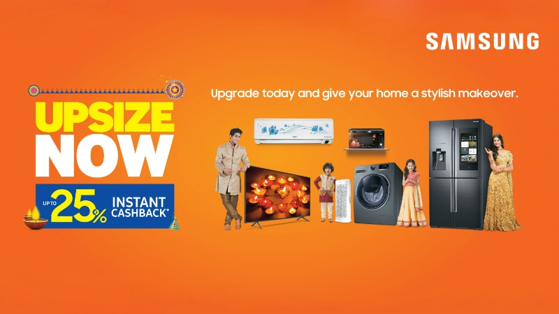 Samsung Festive Sale With Deals and Cashback Offers on Select Smart TVs,  Home Appliances Now Live a8209c530525