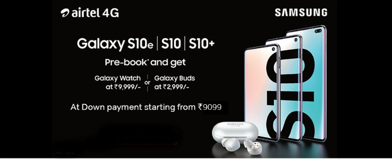 Samsung Galaxy S10, Galaxy S10+ Listed on Airtel Online Store, With Down Payment Starting at Rs. 9,099