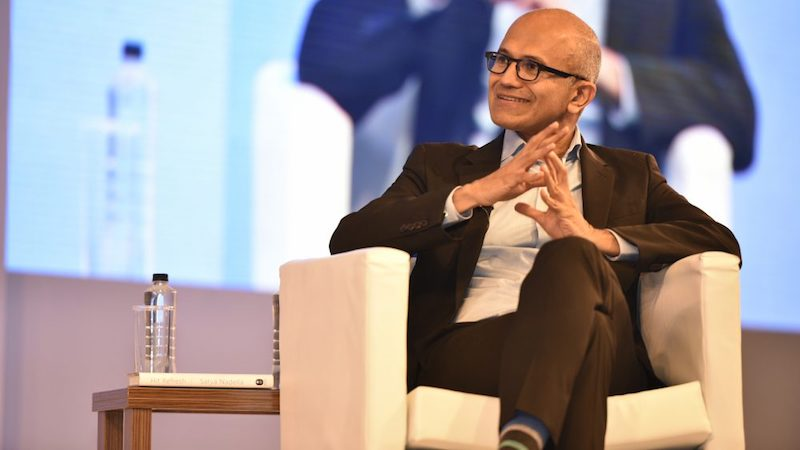 satya ceo microsoft  Satya Nadella on Competing With Apple and Google, Minecraft on Holo Lens, and More satya ceo 1510128759192