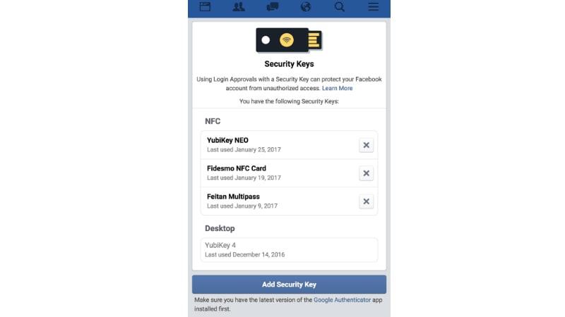 Facebook Embraces U2F to Improve User Login Security