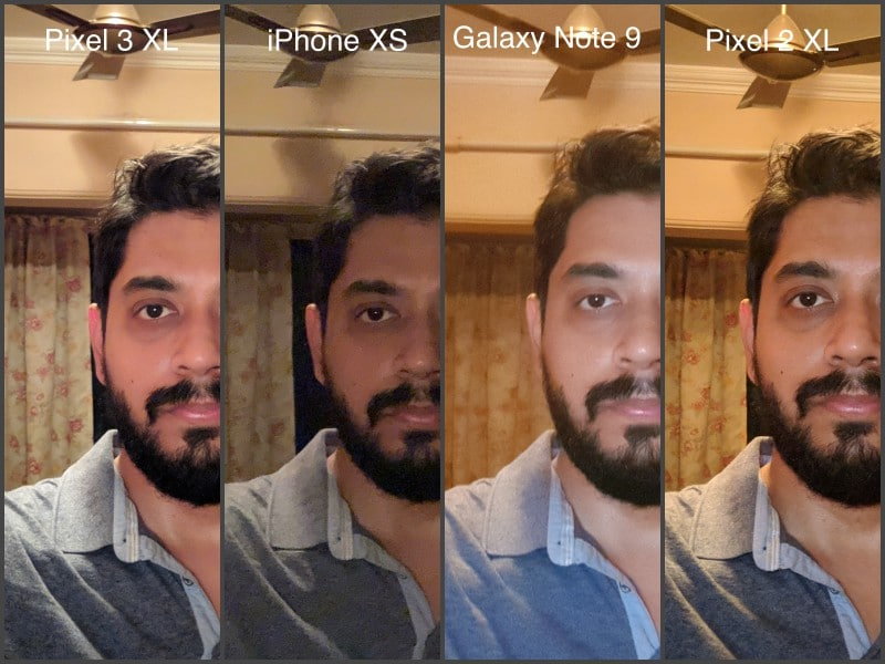 selfie lowlight pixel 2 100 CROP camera compare