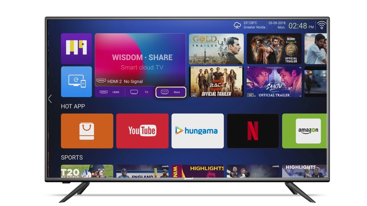 Shinco SO50AS-E50 49-Inch Full-HD Smart LED TV With Cricket Picture Mode Launched in India, Priced at Rs. 23,999