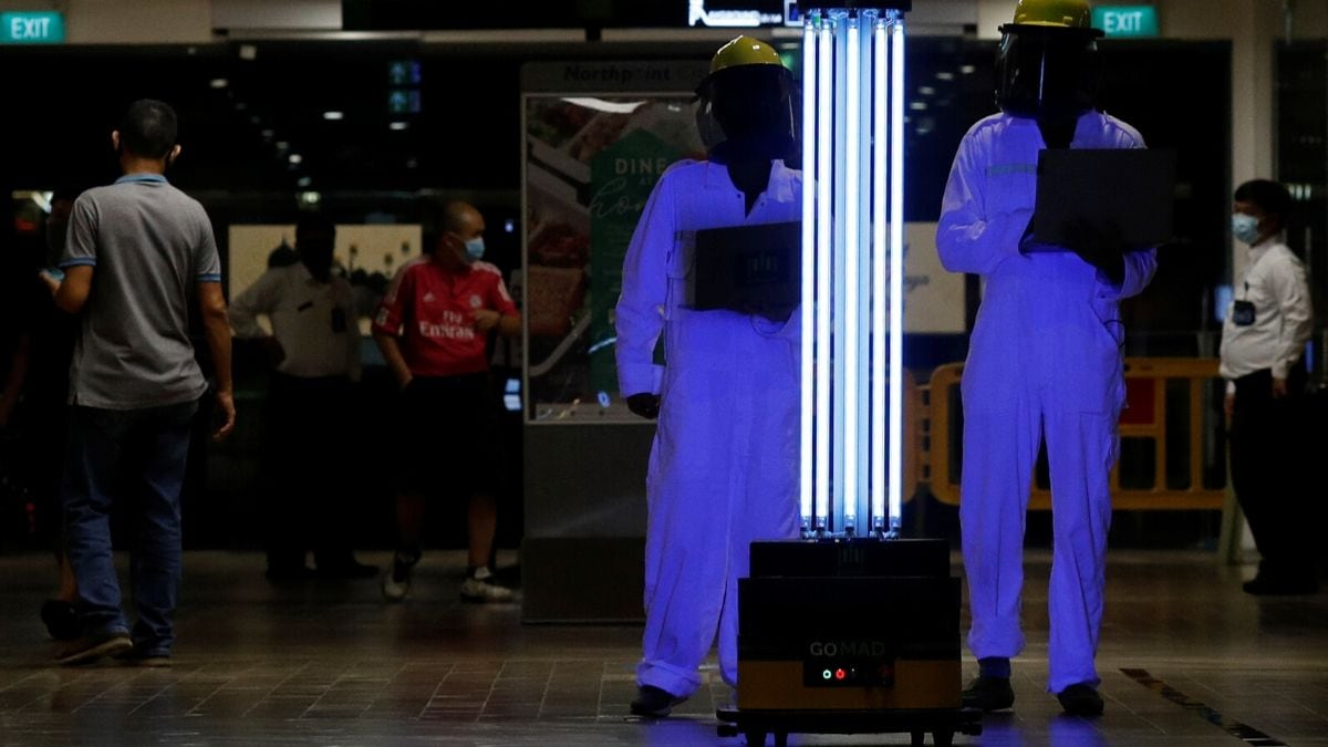 Exterminate! UV Robot Sent to Singapore Mall to Zap Coronavirus