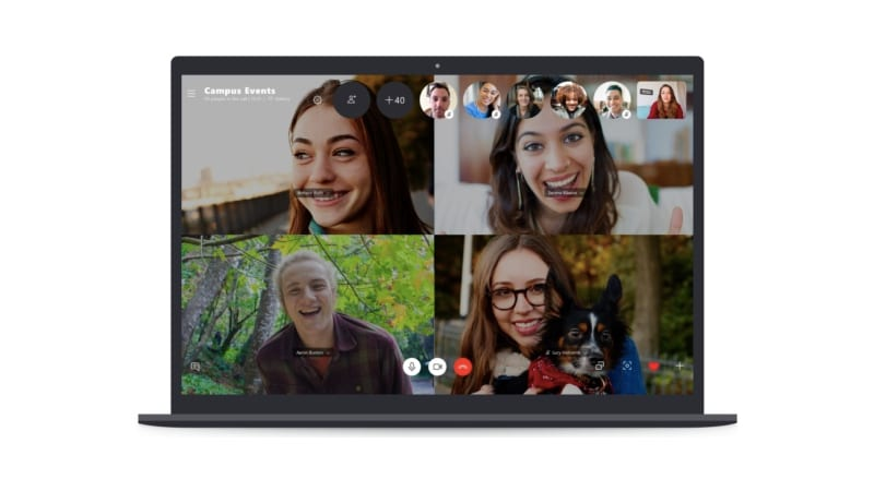 Microsoft's new 50-person group video chat feature for Skype exits beta