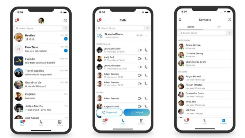 Microsoft is redesigning the Skype app, again