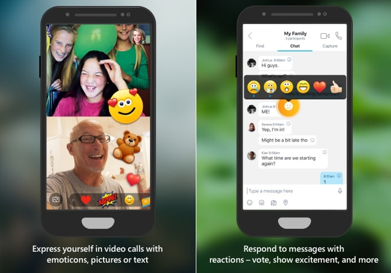 Skype Preview for Android and iOS Adds Reactions, Integrated Camera, and More