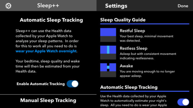 Sleep++ Is a Free, Automatic Sleep Tracker for the Apple Watch
