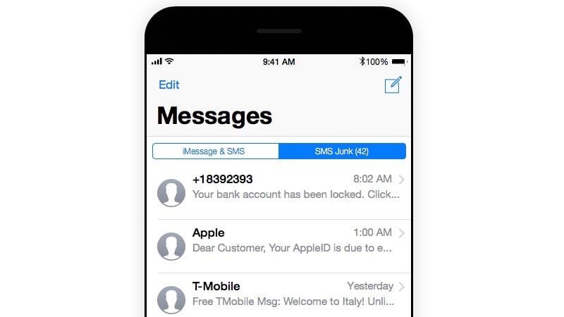 How to Block SMS Spam on iOS 11