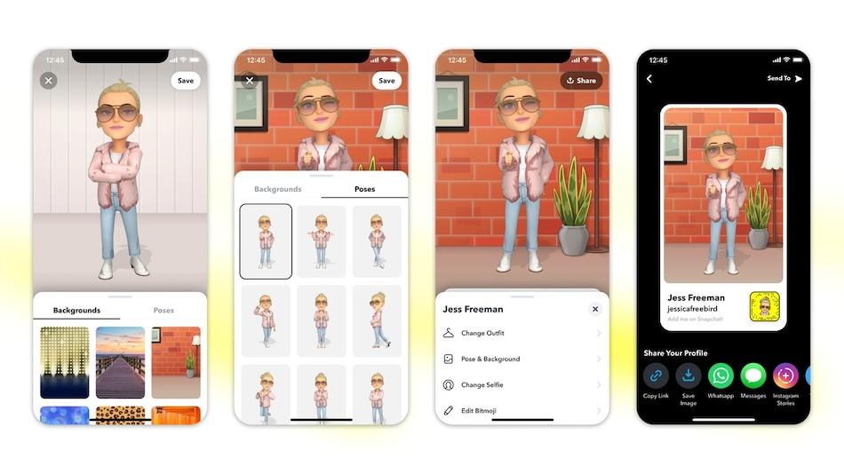 Snapchat Introduces 3D Bitmoji to Improve Digital Avatars, 1,200 New Customisation Options