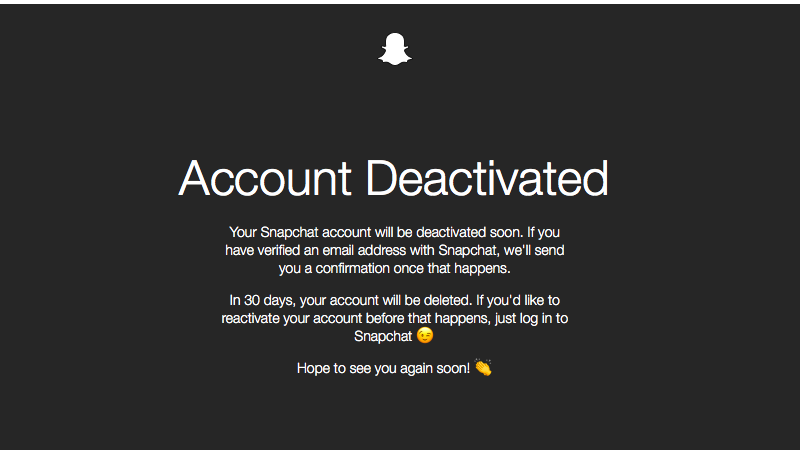 snapchat account deactivated sc Snapchat