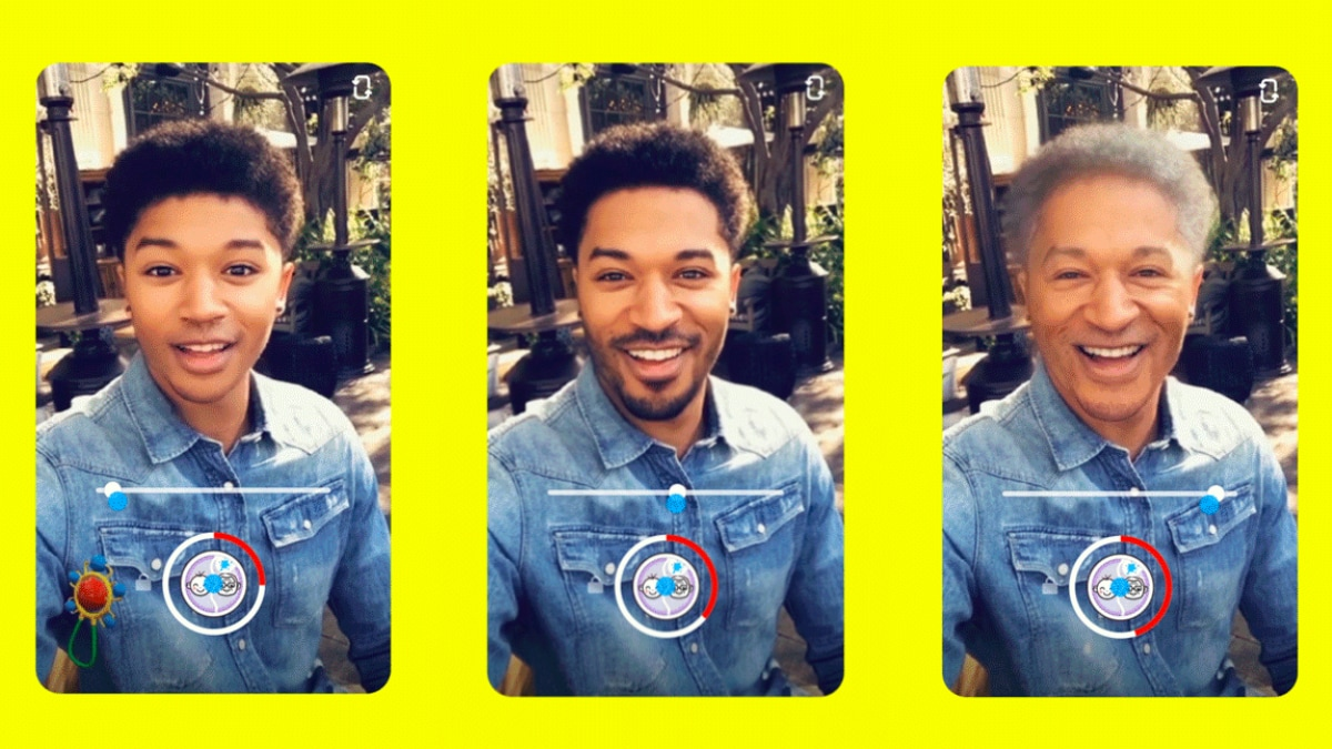 Snapchat adds Time Machine age-transforming feature