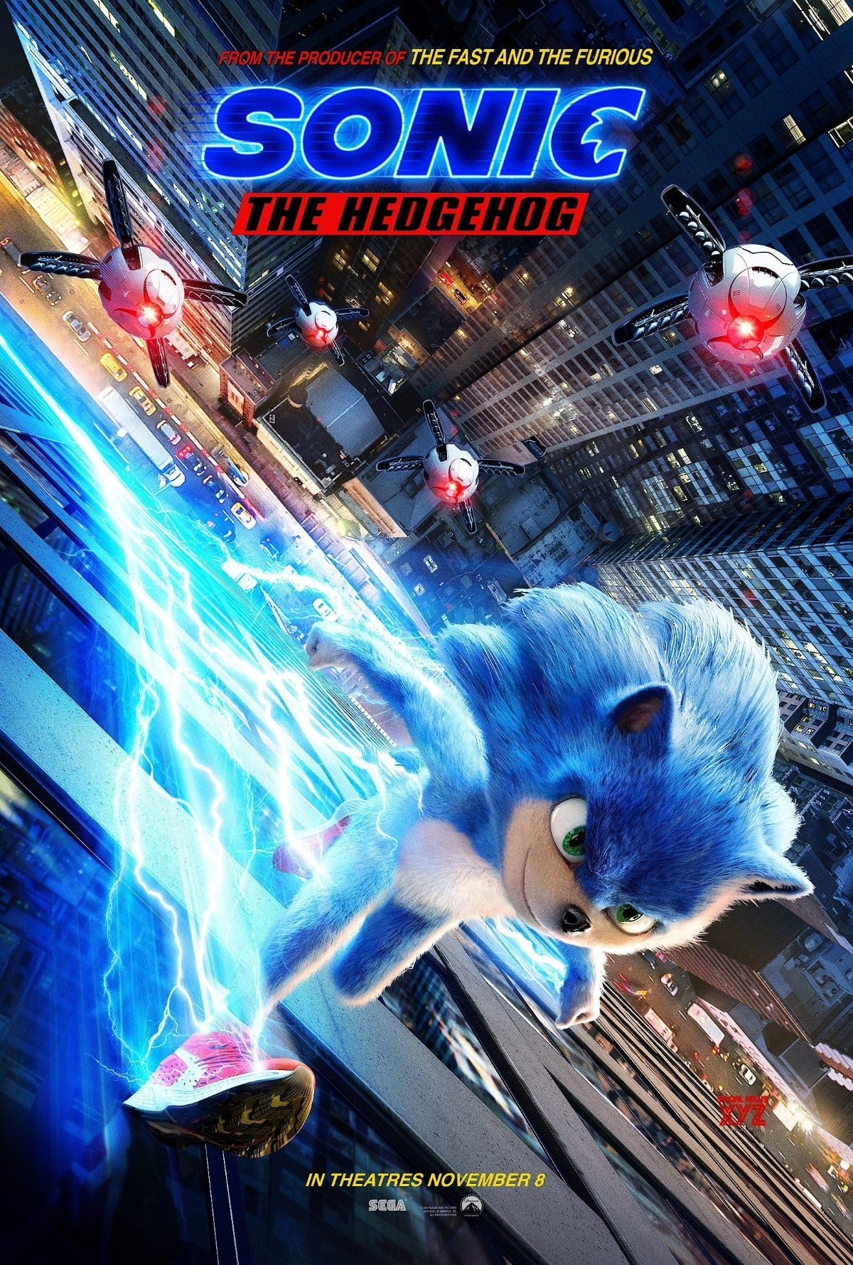 sonic the hedgehog movie HD Poster  Sonic the Hedgehog movie 2019 poster