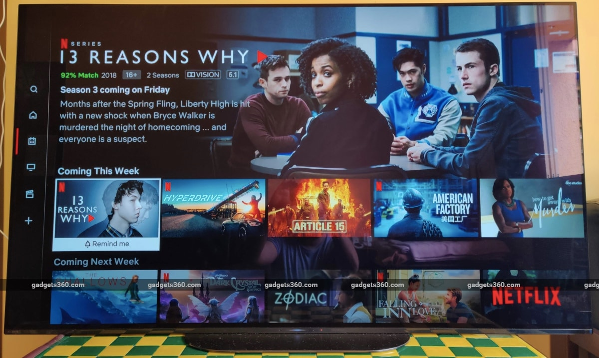 sony a9g oled tv review netflix Sony A9G