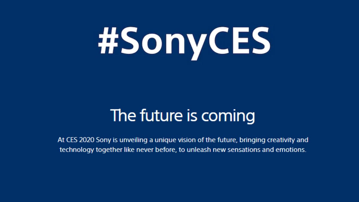 Sony to Host CES 2020 Event on January 6: What to Expect
