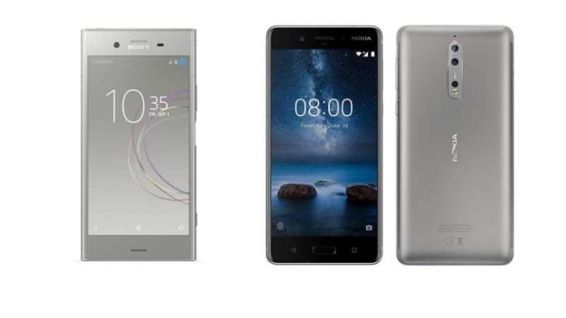 Nokia 8 vs Sony Xperia XZ1 vs OnePlus 5: Price, Specifications Compared