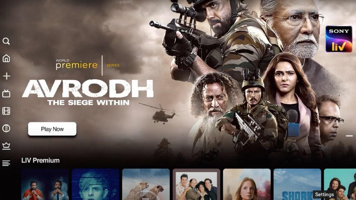 SonyLiv Screen Preview for the Best Netflix Alternatives Platforms