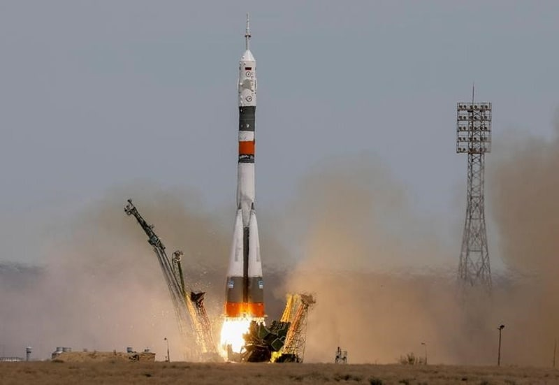 US-Russian Crew Blasts Off for Space Station With One Empty Seat