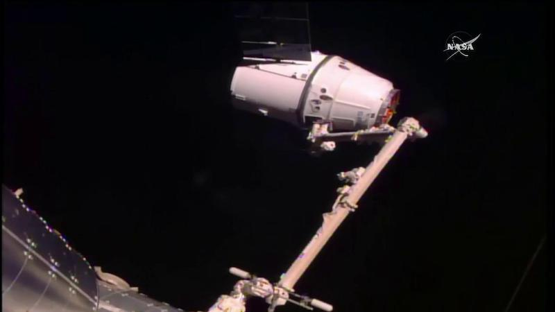 SpaceX Cargo Ship Arrives at International Space Station After GPS Problem