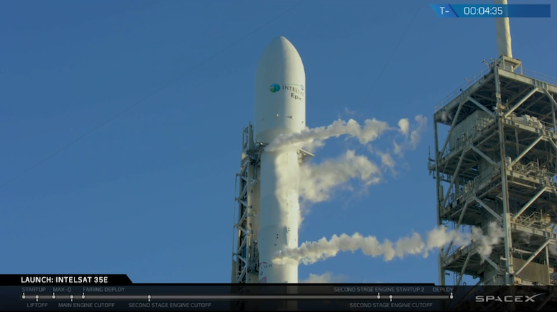 SpaceX Scrubs Two Back-to-Back Launches for Intelsat 35e