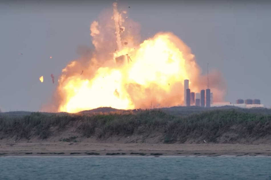 SpaceX Starship Rocket Prototype Explodes on Texas Test Pad
