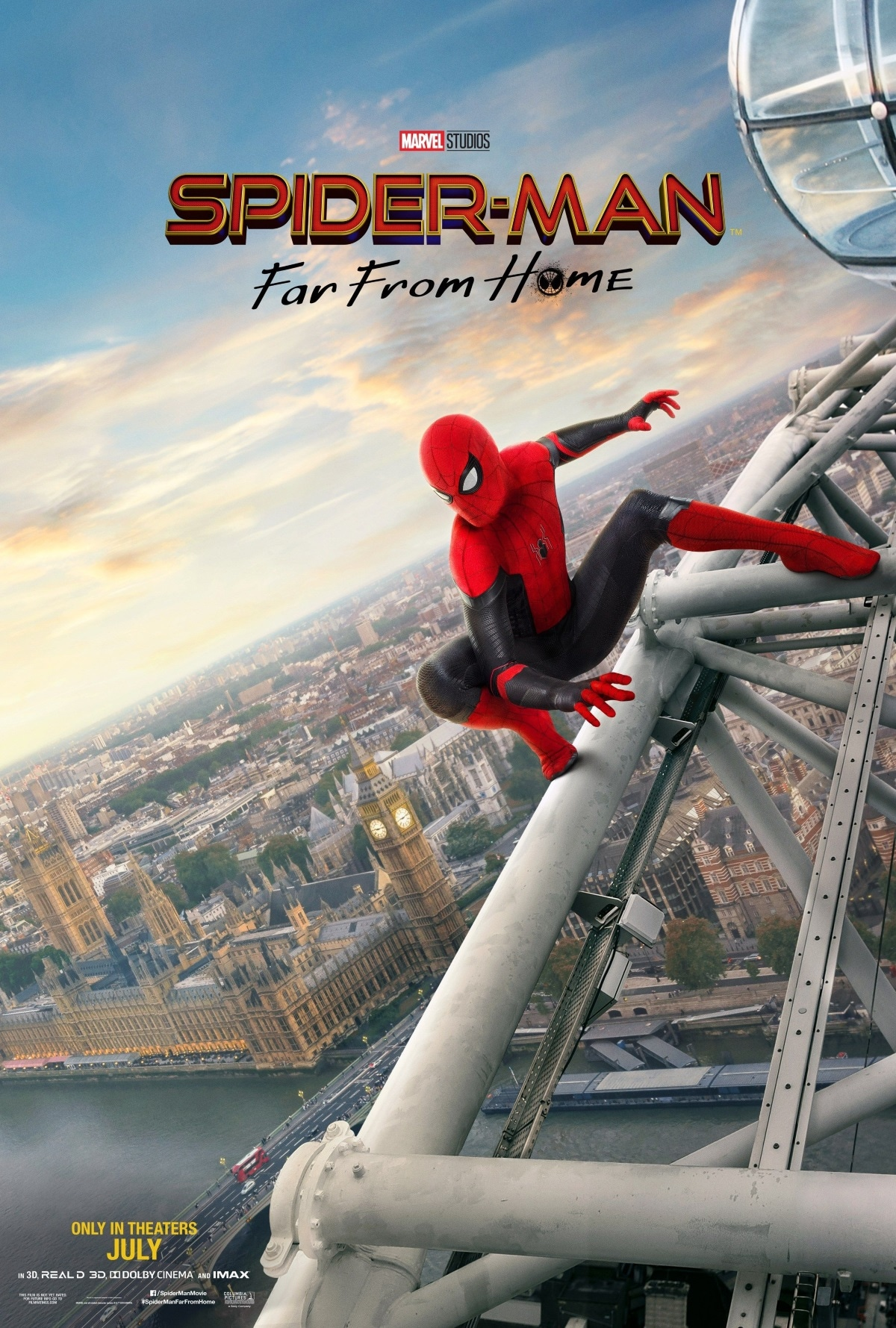 spider man far from home poster london Spider Man Far From Home poster