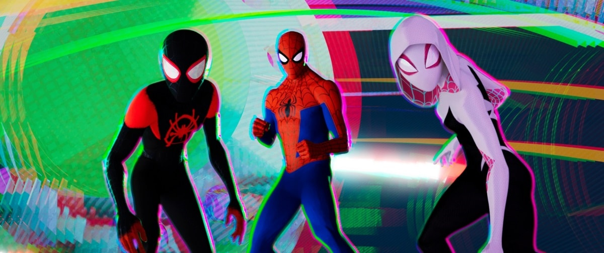spider man into the spider verse miles morales peter parker gwen stacy Spider Verse