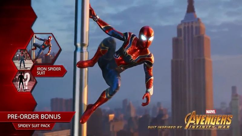 Avengers: Infinity War Iron Spider Suit Is a Spider-Man PS4 Pre
