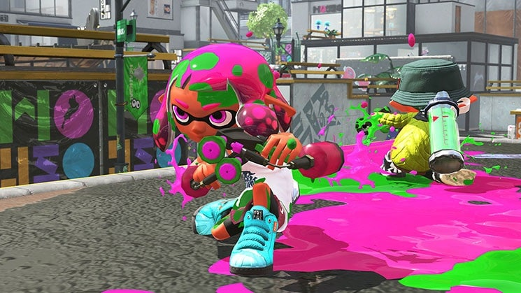 splatoon 2 pink inkling girl Splatoon 2