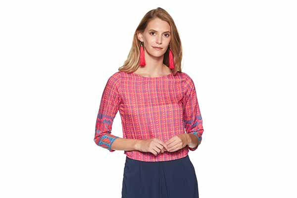 best spring clothes in india Global Desi Women's Checkered Regular Fit Shirt