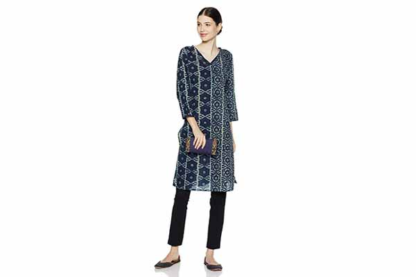best spring clothes in india Fabindia Women's A-Line Cotton Kurta