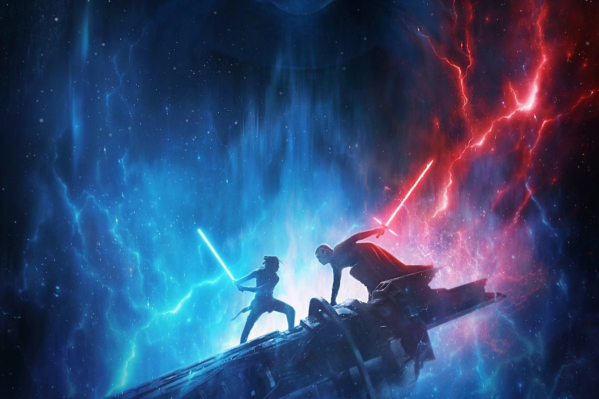 New Star Wars The Rise Of Skywalker Poster Features Palpatine Rey And Kylo Ren Disney D23 Expo Entertainment News