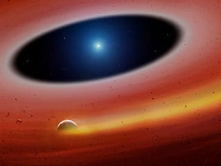 Heavy Metal Miniplanet Survived Death of Its Star