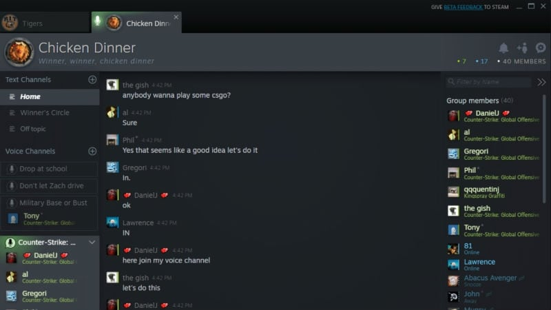Valve Rolls Out New Steam Chat Features to Take on Discord