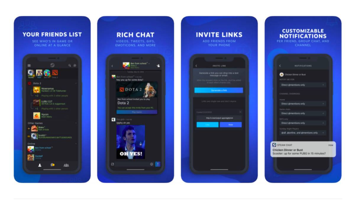 Steam Chat Gets its Own iOS, Android App