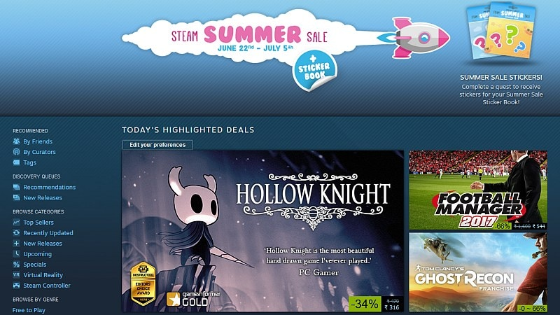 Steam Summer Sale 2017: The Biggest Sales and Deals