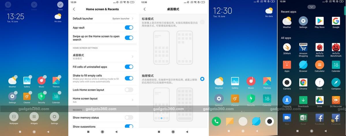 Xiaomi Testing App Drawer in MIUI Launcher, App Shortcuts Also