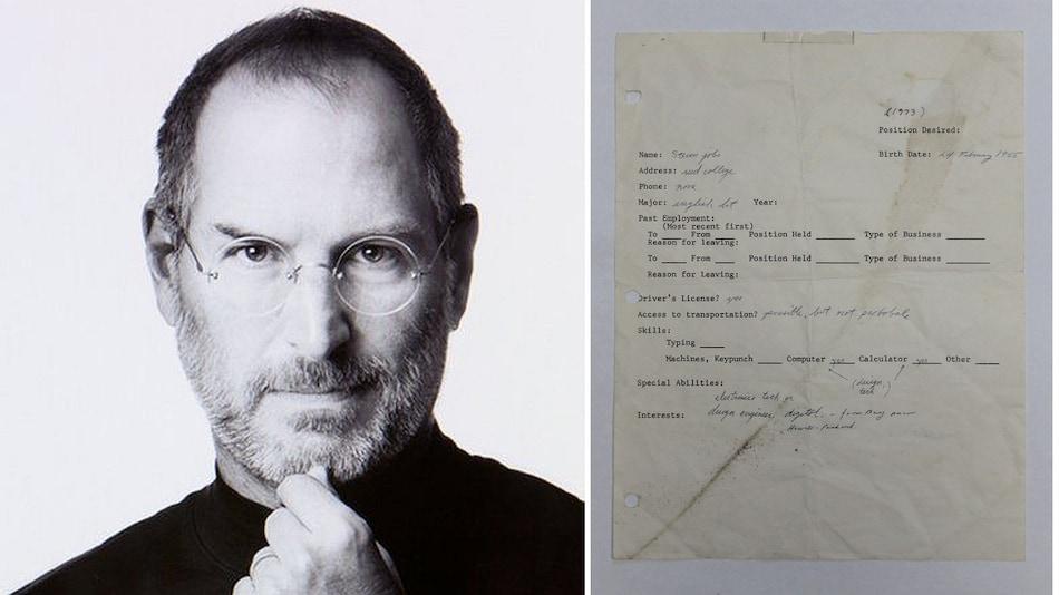 Steve Jobs' 1973 Handwritten Job Application Sells for GBP 162,000 at an Auction