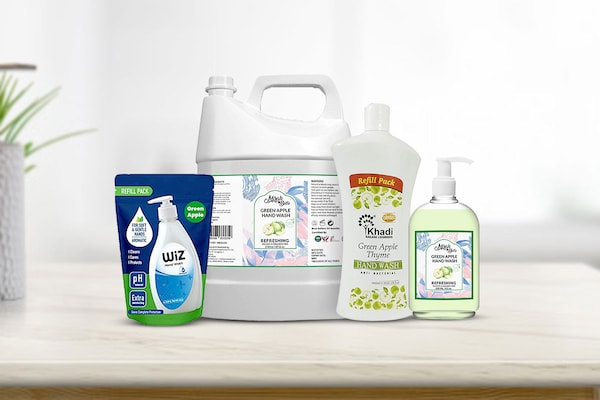 Green Apple Flavoured Handwashes From Renowned Brands