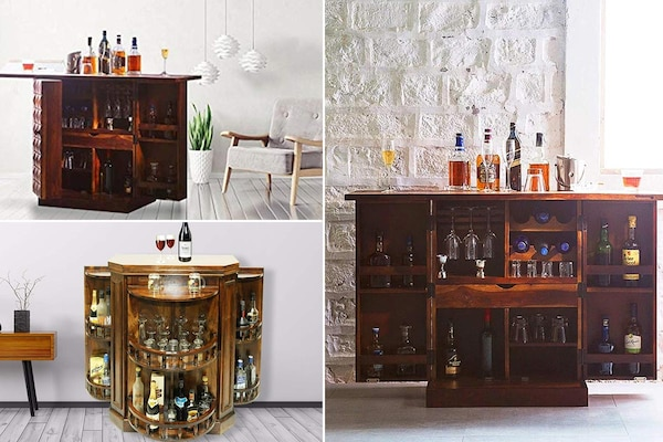Wooden Bar Cabinets For Home: Now Your Favourite Cocktail Is Just A Room Away