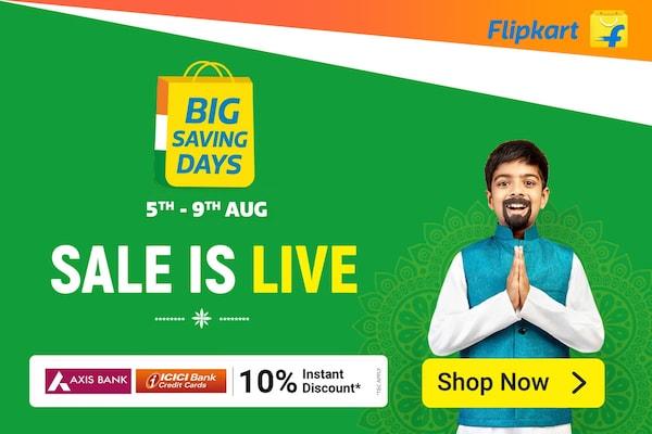 Flipkart Big Saving Days Sale 2021 (5th-9th August)