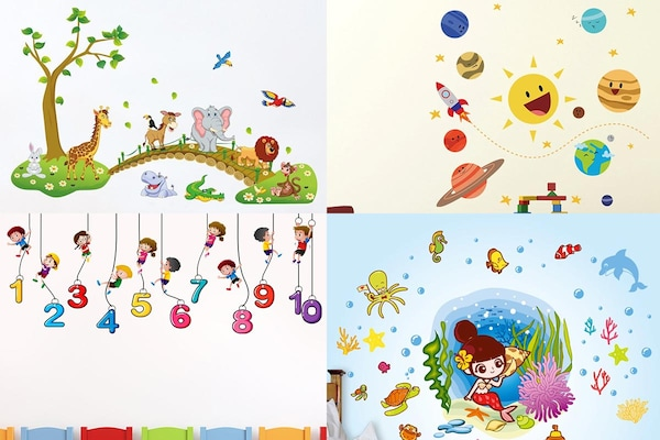 Decorate The Walls Of Your Kids' Room With These Attractive Wallpaper Stickers
