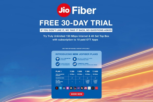 New Jio Fiber Plans Offer Access To 12 OTT Platforms: 30 Days Free Trial On Platter