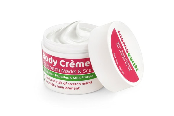 Mamaearth Body Crème for Stretch Marks and Scars, best stretch mark removal cream