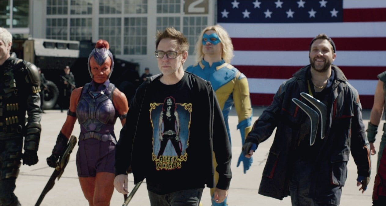 Director James Gunn during the shoot of The Suicide Squad