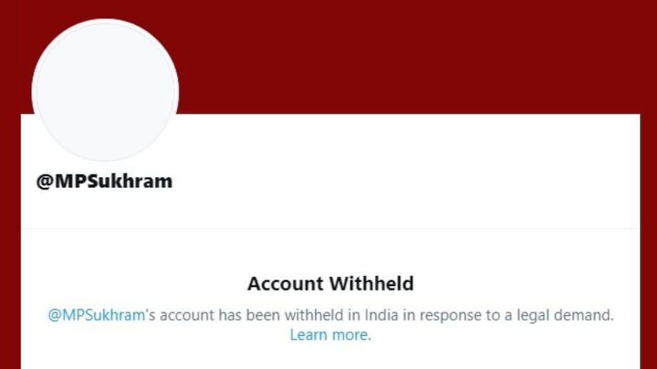 Twitter Witholds Rajya Sabha MP Sukhram Singh Yadav's Account: Report