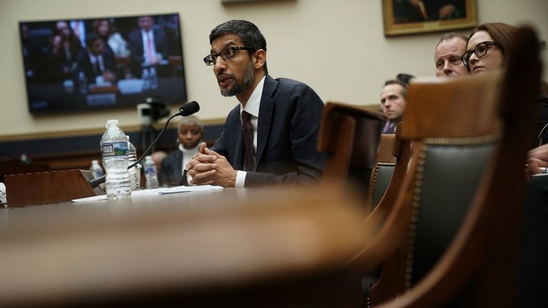 Google CEO Sundar Pichai Spars With US Lawmakers on Bias, Privacy
