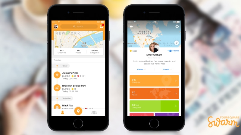 Foursquare Redesigns Swarm App to Highlight Past Check-Ins
