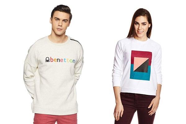 best sweatshirt brands in india United colors of benetton