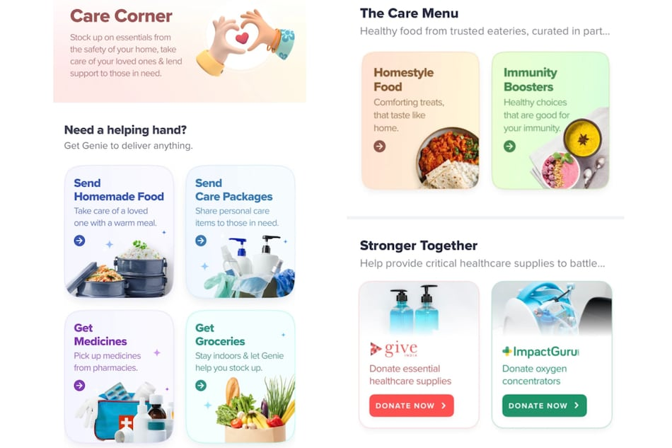 Swiggy Introduces Care Corner to Highlight Services Beneficial for COVID-19 Relief